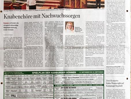 Artikel im Hamburger Abendblatt vom 20.09.2020