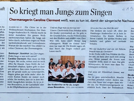 Artikel im Hamburger Abendblatt 06.12.18