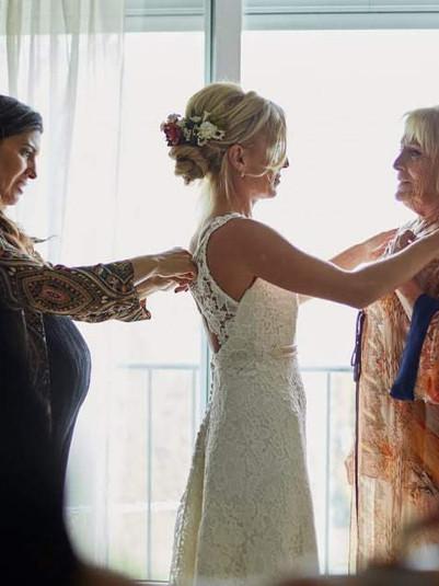 Sofi y su vestido de macrame