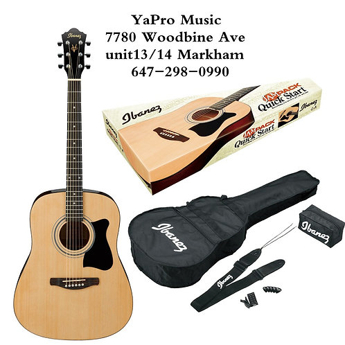 V50NJP-NT  Ibanez V50NJP Jam Pack Acoustic Guitar Package