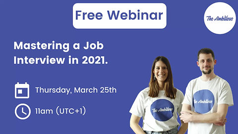 mastering a job interview in 2021 free webinar with the ambitious interview skills training