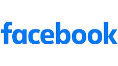 facebook logo displayed on the ambitious first website to find a job