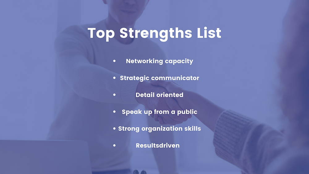 strengths and weaknesses list