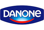 Danone logo screened on the ambitious best website to find a job