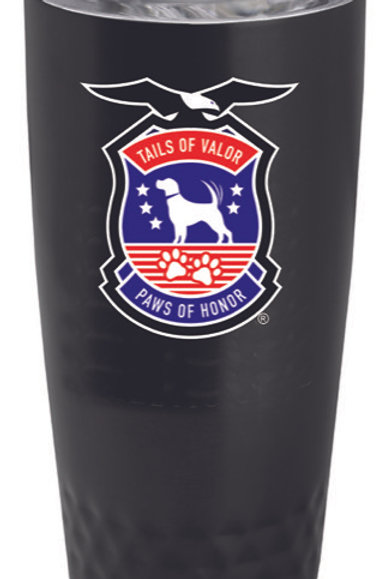 18 oz Black Double Insulated Tumbler 2 sided print