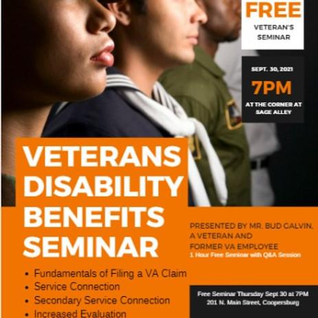 Veterans Disability Benefits Seminar