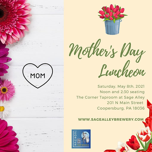 Pink and Green Watercolor Luncheon Invit