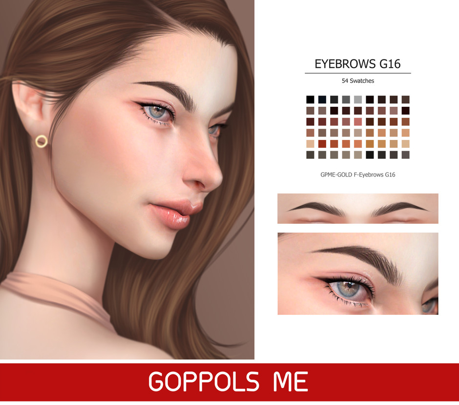 GPME-GOLD F-Eyebrows G16