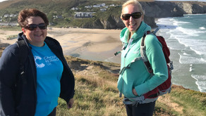 Walking up and down, up and down on the Cornish coast path...   by Jo Marriott