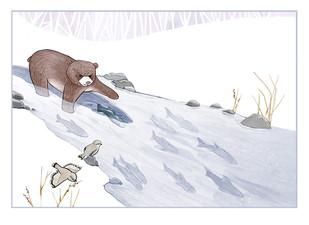Bear fishing at the Lake