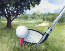 Golf Watercolor