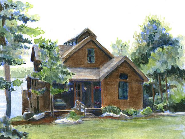 House Watercolor Rendering