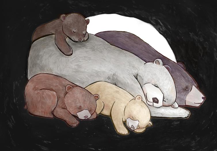 Bear's in a Snit. Still hibernating