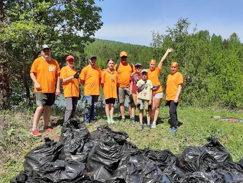 Волонтеры-магнезитовцы продолжают совершать экологические поступки