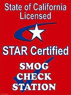 STAR certified smog check station san ramon