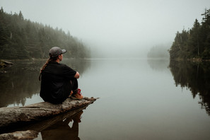 Taking a moment to soak in this foggy lake in Vermont.