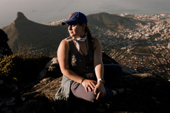 Taking in the beauty of Table Mountain.