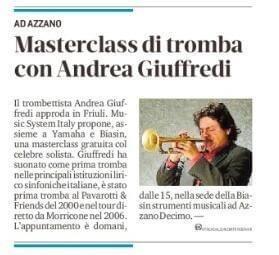 Masterclass Andrea Ciuffredi