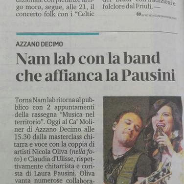 Nam Lab Party Articolo Ca' Muliner 2018.