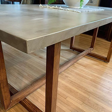 This dining table has been in the works