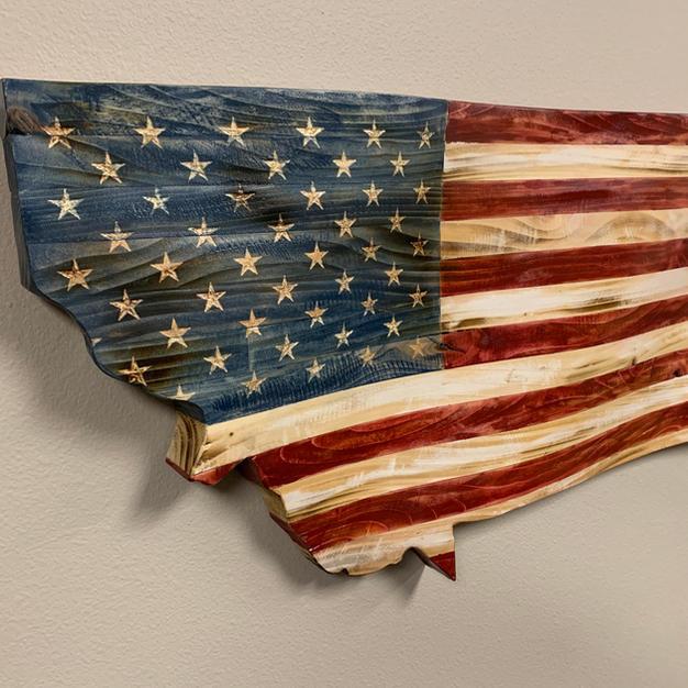 American Flag - Montana