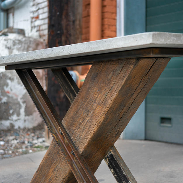 Salvaged Beam Sofa Table