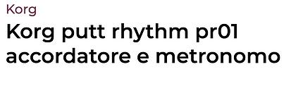 Korg putt rhythm pr01