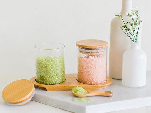 Yuzu Dual Bath Salts - Lavender Citrus/Matcha Mint