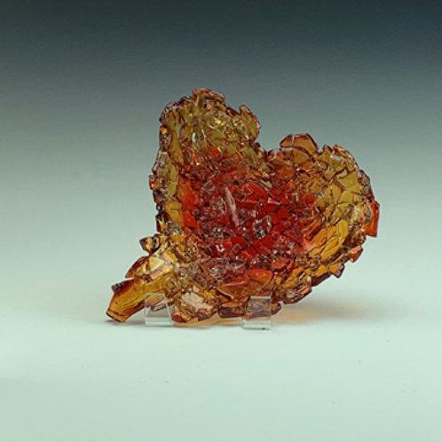 heart geode amethyst amber