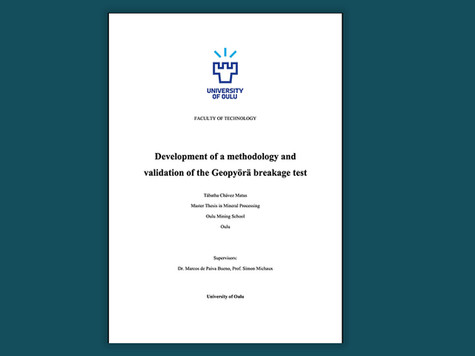 Development of a methodology and validation of the Geopyörä breakage test.