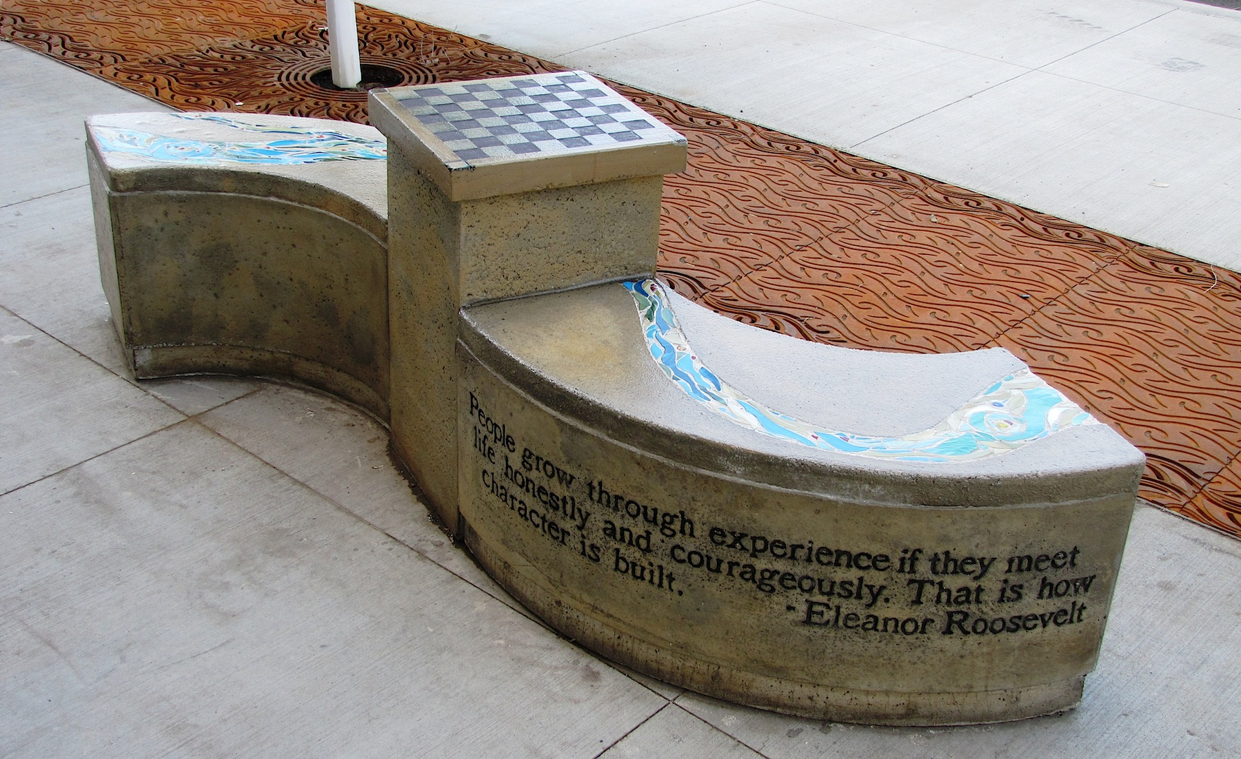 Lewiston Public Library Bench