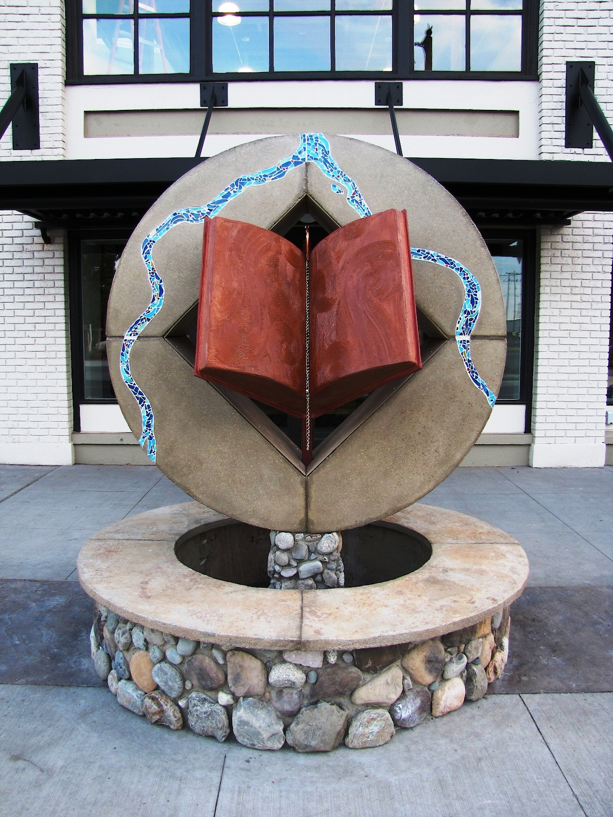 Lewiston Public Library Fountain