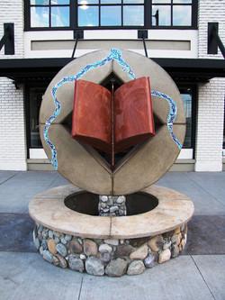 Lewiston Public Library Fountain