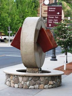 Lewiston PublicLibrary Fountain