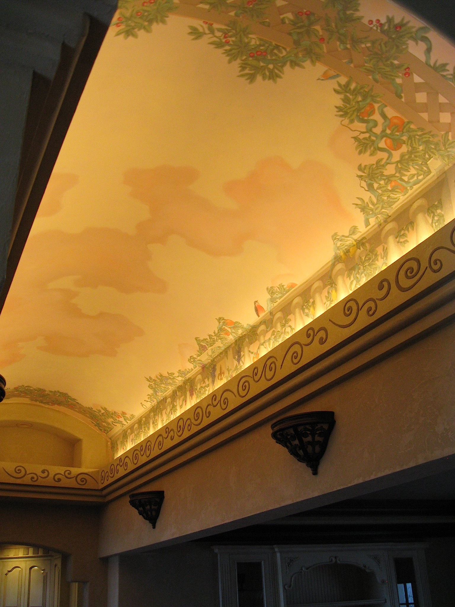 Hallway vaulted ceiling