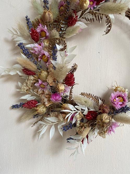 Autumnal vine wreath