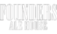 founders ale house logo in white