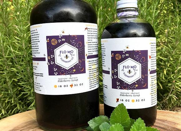 Orange Clove Elderberry Syrup (w/honey)- 16 oz.