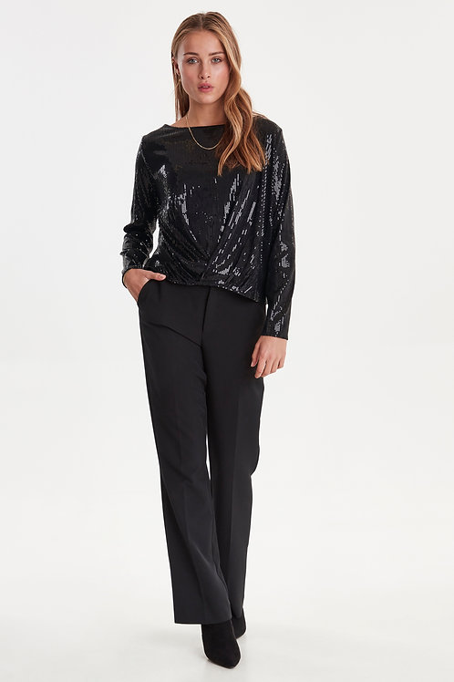 French Tuck Sequin Top