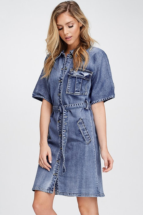 Belted Denim Dress LIMITED EDITION