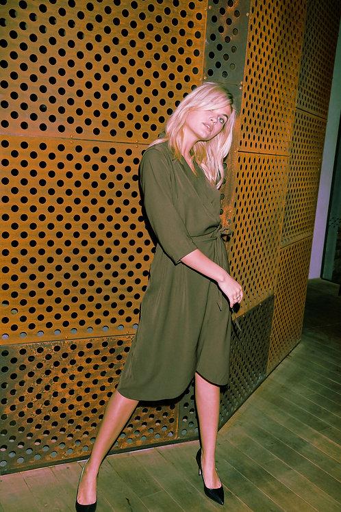 Olive Blazer Dress