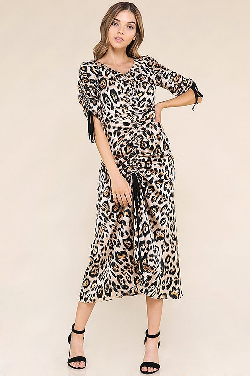 Silky Leopard Maxi Dress