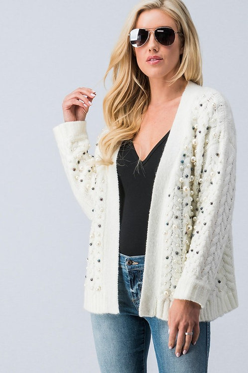 Pearl Front Cardigan