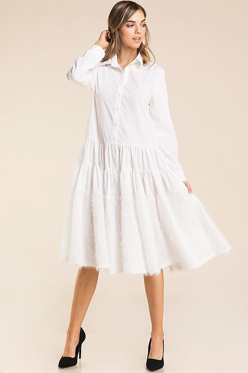 Feather Bottom Popover Dress