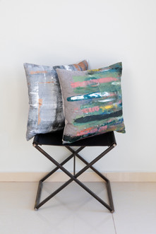Abstract painted pillows