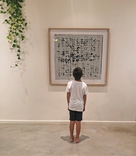 Framed artwork in a private home