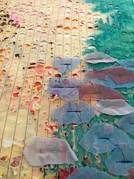 Textile art close up