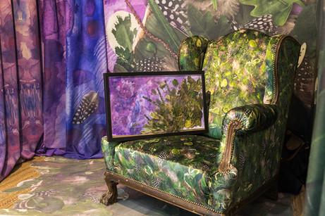 Wallpaper, carpet and upholstery design