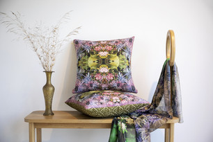 Wild and colorful printed pillows