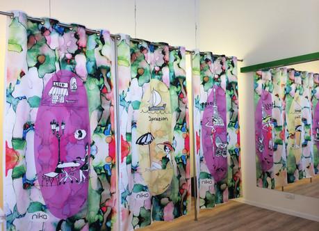 Curtain design for Maternity brand NIKA